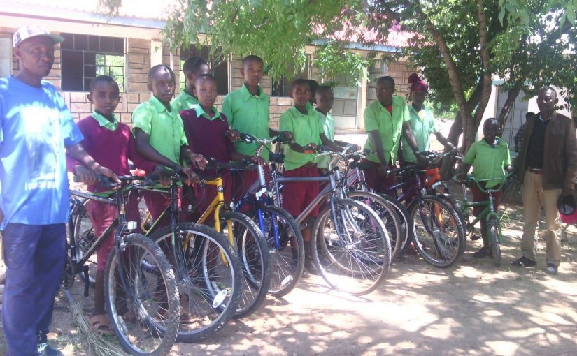 First bikes delivered to schools in Gai, North Eastern Kenya