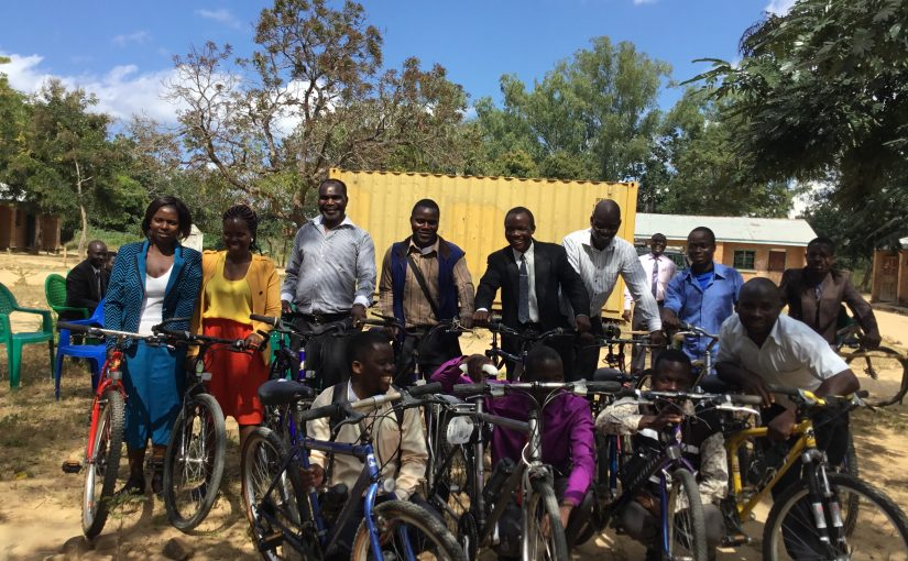 Bikes for teachers arrive in Malawi