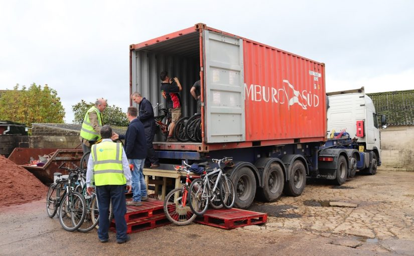 Our Second Container of 125 Bikes off to Kenya
